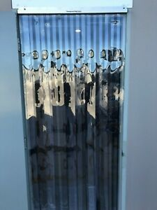 PVC Strip Curtain Door 900mm wide x 2100mm long - Cafe - Cool room - Shop fronts