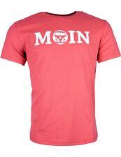 Herren T-Shirt VW Bulli Kult-Auto T1 Bus »MOIN« Baumwolle Rot Weiß