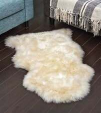 Genuine Real Australian Sheepskin Rug Single Pelt Champagne Sheepskin Rug Fur