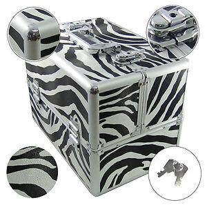 Beauty Case Make Up Nail Art DynaSun BSS35 Zebra XXL Valigia Porta Gioie Oggetti