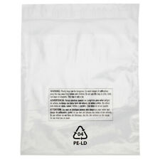 100 Resealable 10 x 15 Clear Poly Plastic Bags Suffocation Warning Shirt Apparel