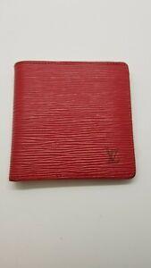 Louis Vuitton Epi Marco Bifold Wallet Red
