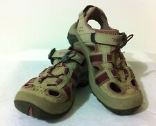 TEVA 6154 Cut-Out Shoes Taupe & Purple Size 6