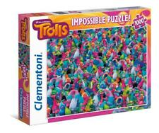 CLEMENTONI IMPOSSIBLE PUZZLE DREAM WORKS TROLLS 1000 PCS ANIMATION #39369