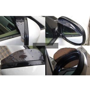 Two automotive reflectors rain plate eyebrow visor accessories for automotive re