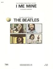 "THE BEATLES ""I ME MINE"" SHEET MUSIC-LET IT BE-PIANO/VOCAL/GUITAR/CHORDS-1970-NEW"