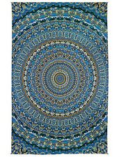 3D Harmony In Color Tapestry Tablecloth Trippy Wall Art w/ Corner Loops 60x90""