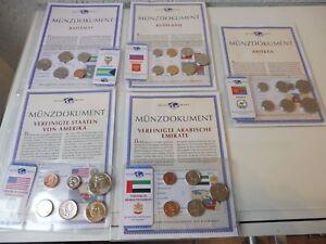 5 Münzsätze__Pièces en Cours : USA, Russie, Bahamas, Eritrea (Érythrée) , V. A.