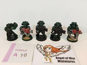 40K Space Marines Marine Devastator Squad Dark Angels Theme (Plastic x5) PA16