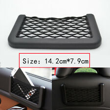 Car Seat Side Back Storage Net Bag Phone Holder Pocket Organizer Black String