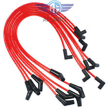 For BBC Chevy 396-427-454-502 HEI 8mm Spiral Core Spark Plug Wires 45 Degree End