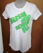 """OLD NAVY gold letters Celtic small T shirt NWT new sexy """"Irish & Lovin' It"""" tee"""