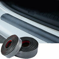 Car Sticker Carbon Fiber Rubber DIY Door Sill Protector Edge Guard Strip 3CM*1M