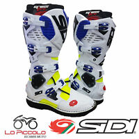 STIVALI BOOTS SIDI CROSSFIRE 3 BIANCO BLUE GIALLO CROSS ENDURO OFF-ROAD TG.43