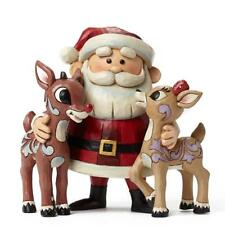 Jim Shore Rudolph the Red Nose Reindeer with Santa and Clarice Figurine
