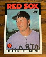 1986 Topps #661 Roger Clemens 2nd year card - Red Sox
