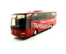 MERCEDES-BENZ TRAVEGO BUS, RED WELLY SCALE 1:60 DIECAST BUS COLLECTOR'S MODEL