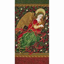 Holiday Flourish 9 Angel Panel  Cotton Fabric Robert Kaufman  Bfab