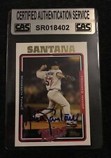 JOHAN SANTANA 2005 TOPPS AUTOGRAPHED SIGNED AUTO BASEBALL CARD CAS COA TWINS 116
