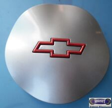 "'95-'99 CHEVY, USED CAP, SPARKLE SILVER, RED BOWTIE, 6-1/4"" DIA. 5110"