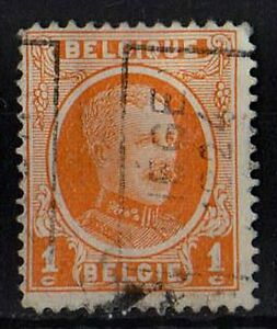 BELGIUM 1922 King Albert I Scott#144 /Mi:BE 170/ 1c orange STAMP