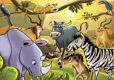 Kids Children Painting Cartoon Animals A3 Poster Yf341