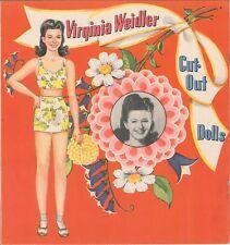 Vintge Uncut 1942 Virg Weidler Paper Doll ~Org Sz Lasr Reproductoin~No1 Free Sh