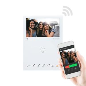 6741W Comelit Écran Mini A Couleurs Wi Fi Kit Mains Libres Sbtop