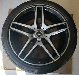 """MERCEDES E CLASS W212 ALLOY WHEEL & TYRE 18"""" AMG FRONT (WH443)"""