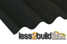 Coroline Roofing Corrugated Bitumen Roof Sheet Black 2000mm(l)x950mm(w)