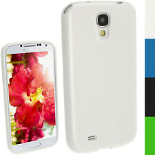 Blanc Brillant TPU Gel Case Pour Samsung Galaxy S4 IV I9500 I9505 Android Couverture