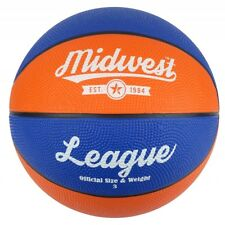 Midwest League Basketball Blue/Orange Size 3