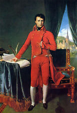 Huge art Oil painting Ingres - Emperor man Bonaparte as First Consul canvas 36""