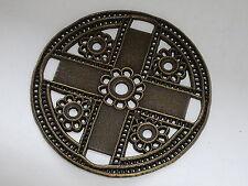 Zierteil Metall Trachten Applikation  7 cm  altmessing  NEUWARE  rostfrei  #482#