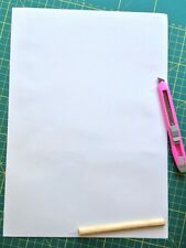 20 A4 WHITE SELF ADHESIVE sign VINYL SHEETS craft robo