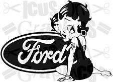 LARGE Betty Boop girls vinyl car bonnet sticker side graphic rear window wall ar