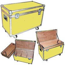 """Ata """"Bully"""" Supply Trunk 1/4"""" Case w/2 Dividers - Top Tray&Wheels - Yellow Case"""