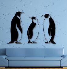 Vinyl Decal Penguins Funny Animal Bathroom Decor Art Wall Stickers Mural (ig872)