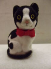 VINTAGE SCHMID FLOCKED CAT FIGURE