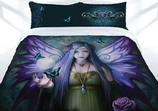 Quilt Cover Set Queen Bed Anne Stokes Doona Pillow Cases Mystic Aura