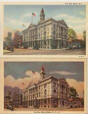 c1930 Lot of 2 CITY HALL ELMIRA NY Postcards