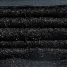 "1/6 yd 325S/CM Black INTERCAL 5/8"" Semi-Sparse Curly Matted Mohair Plush Fabric"