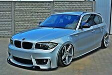 Cup Spoilerlippe für BMW 1er e87 Lippe Front Spoiler Diffusor Ansatz M Paket M1