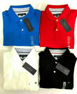 NEW TOMMY HILFIGER MEN'S  POLO SHIRT S/S  CUSTOM FIT 100% AUTHENTIC
