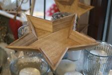 Natur-Holz-Stern-Teller Schale 32,5 cm oder 24 cm Weihnachten Plätzchenschale