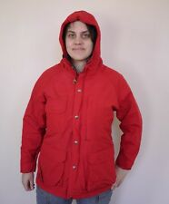 Vintage WOOLRICH Wool Lined 60/40 Parka Nylon Hooded Jacket Womens RED M USA