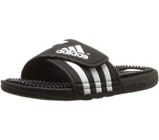 Adidas Women's Adissage Slide Sandals, Black/White