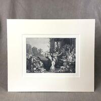 1860 Antik Viktorianisch Gravierung Massacre der Innocents after Rubens
