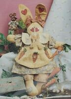 Button Babies Blossom The Bunny Rabbit Doll Craft Pattern Packet Cheri #6222