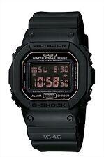 CASIO G-SHOCK Digital Men's Watch DW5600MS-1 Matt Black Red Eye
